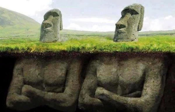 It turns out there are giant bodies attached to the heads on Easter Island. via @DavidKWilliams #Life #Science #Art http://t.co/cp44j5qrzc