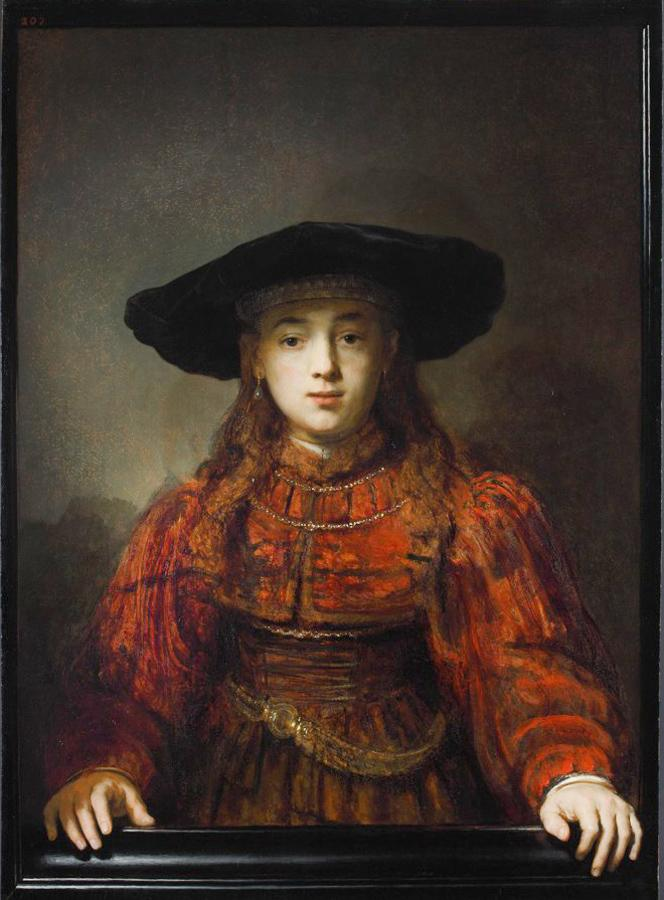 The Girl in a Picture Frame (The Jewish Bride) by Rembrandt 1641 (Royal Castle in Warsaw) http://t.co/3eQXzuHObS