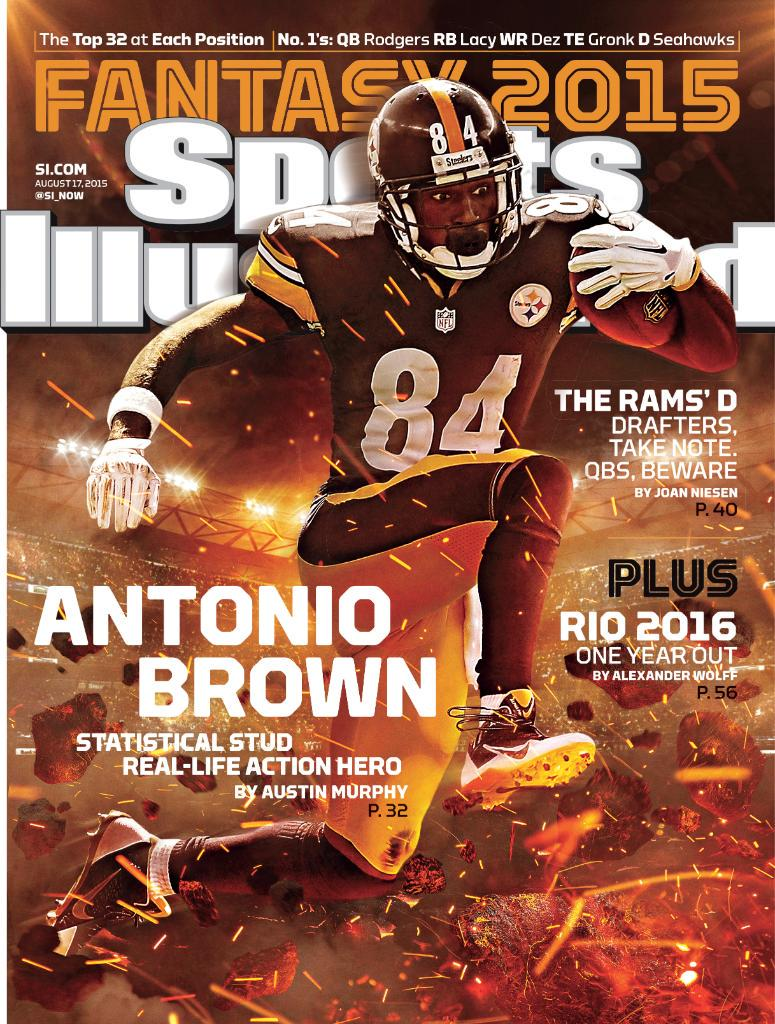 Hey Pittsburgh, get your copy of Sports Illustrated featuring @AntonioBrown84 on the cover now! #HereWeGo http://t.co/tBuJBL6YSm