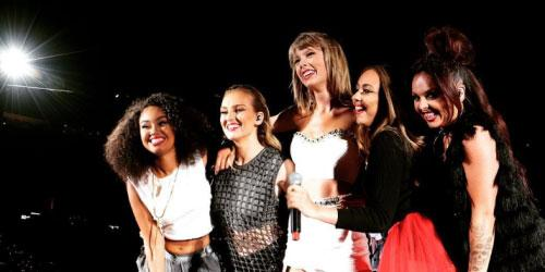 The ladies of @littlemix joined Taylor Swift on stage last night. http://t.co/HX40wS8Iub http://t.co/L8zMAqdIvs