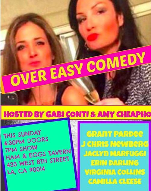 7pm @GoHamEggs @CamillaCleese @grantpa @thechrisarmy @ErinADarling @JaclynMarfuggi @GMConti @VirginiaCollins #DTLA http://t.co/JKBceyPSju