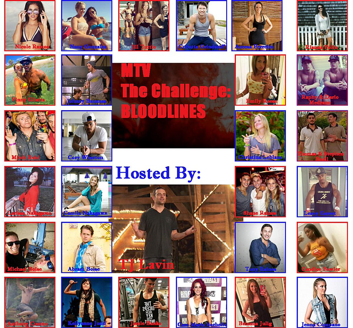 Sorry for any mistakes in advance but here is the official cast for the 27th season of the Challenge! http://t.co/QVx8c1NqaC