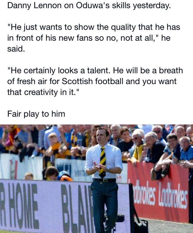 Well said Danny Lennon http://t.co/1TTQ6FAVMJ
