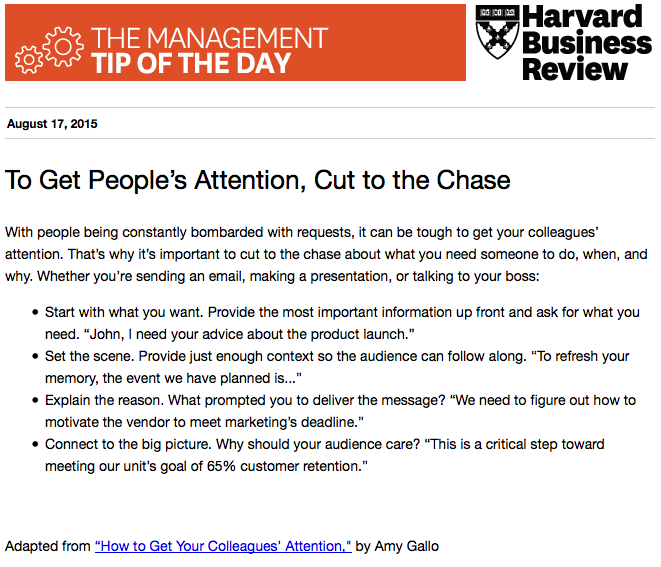 Today's management tip: If you want to get someone's attention, make your point quickly http://t.co/UImuSGqw8R
