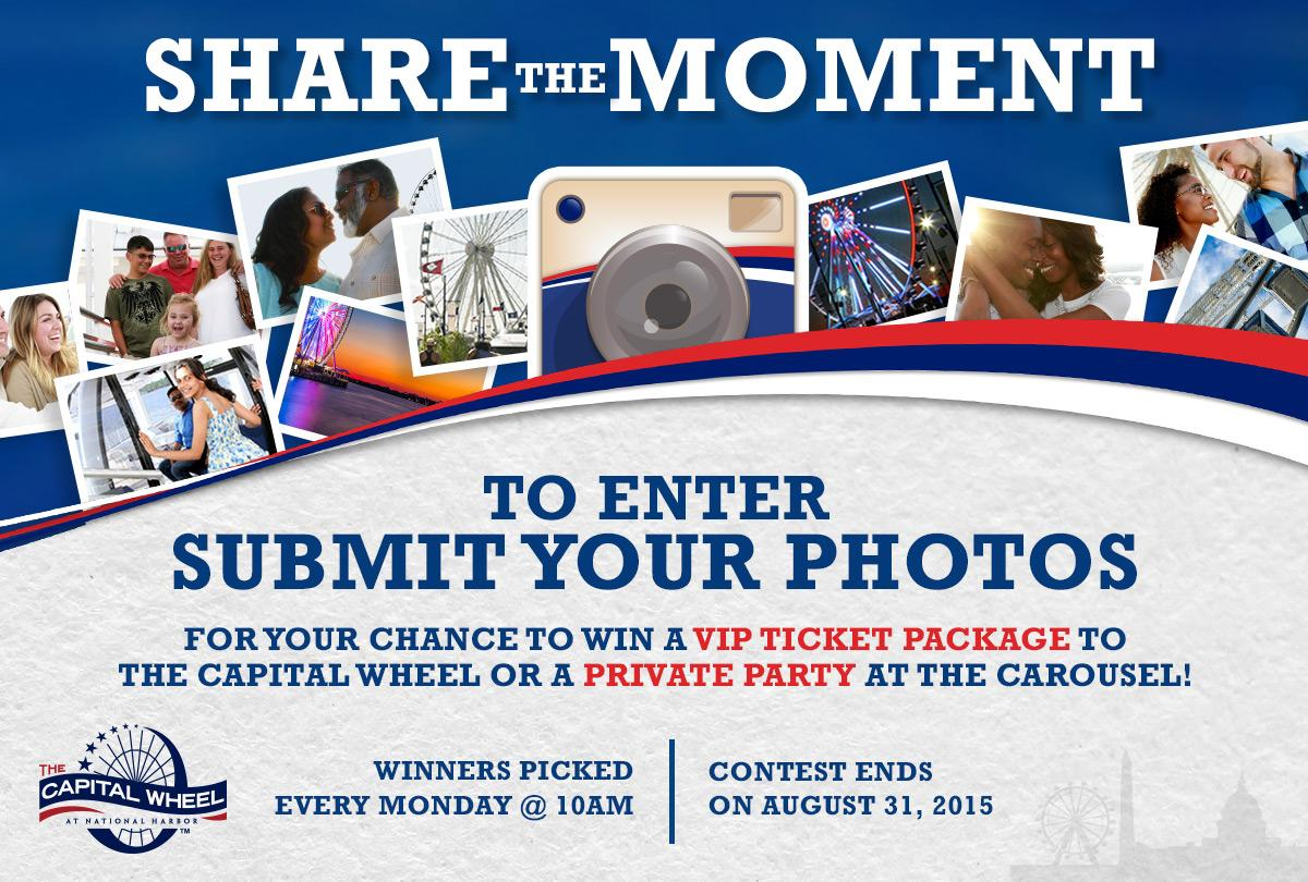 Share your moments of fun at the @CapitalWheel for chance to win prizes! #SharetheMoment - http://t.co/lU9J2tru84 http://t.co/0Z9KFYlQxb