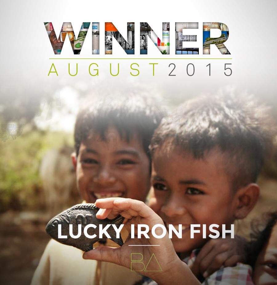 Once again, congratulations @LuckyIronFish!! #BetterAwards #health #winner #august http://t.co/l3uUjoZCCB