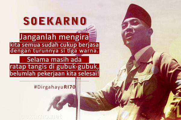 Pesan #Soekarno tentang Kemerdekaan. @fadjroeL @Prabowo08 @jokowi @hanifdhakiri @imam_nahrawi @Pak_JK @mohmahfudmd http://t.co/504egs9kEk