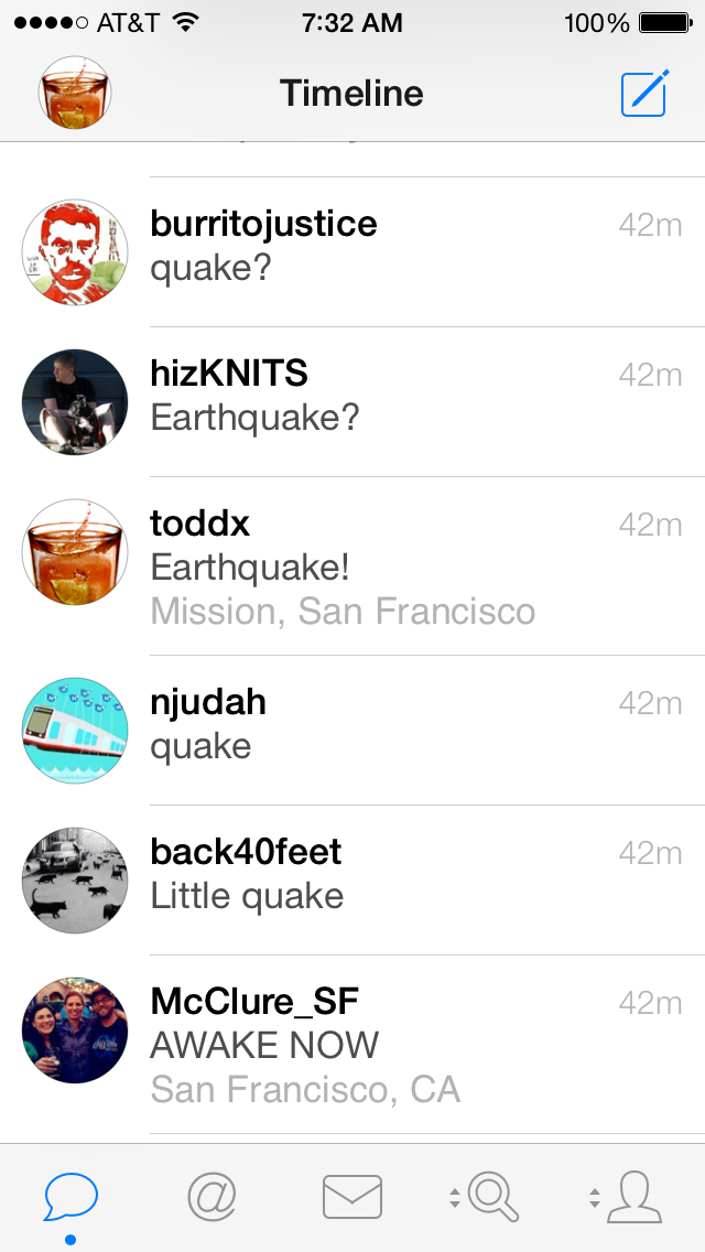 I was beaten by #earthquake whisperers @McClure_SF @back40feet & @njudah http://t.co/7C2C2BbFxd