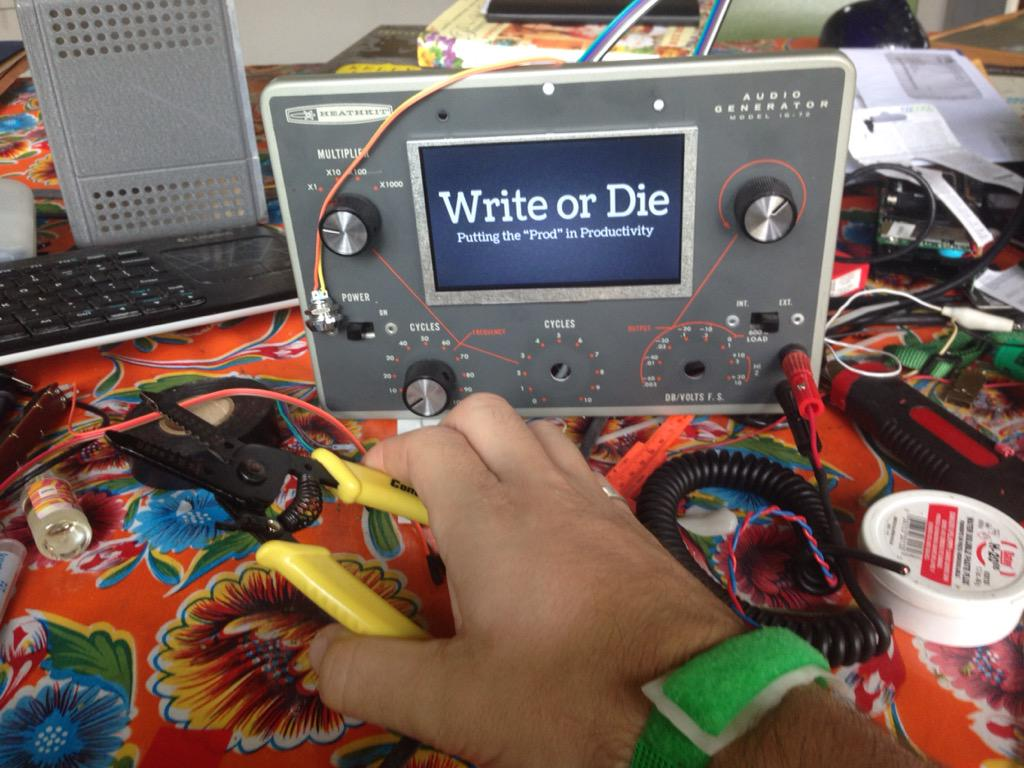 """""""Electric shock writing mode?"""" they said, """"You're crazy!""""   I'll show them. I'LL SHOW THEM ALL! #madscience #moresoon http://t.co/LuE3leGkb3"""