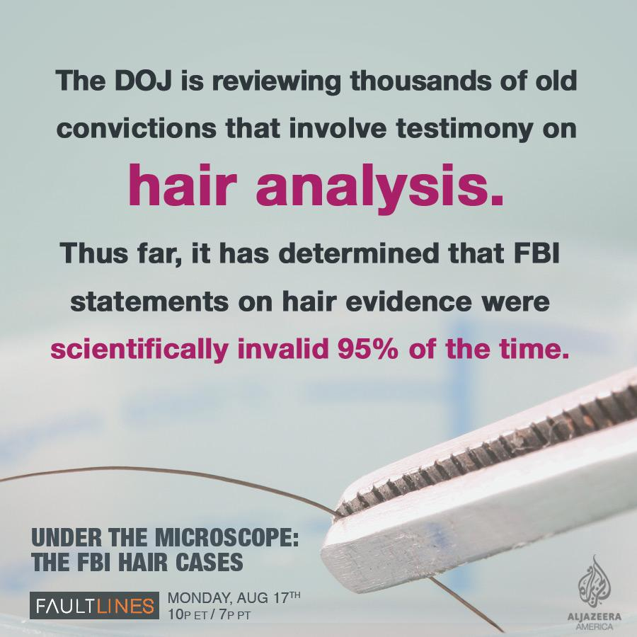 The FBI used a fake science to convict thousands of criminal defendants. http://t.co/tjZ8JQ2rsT http://t.co/paAKiMITOa