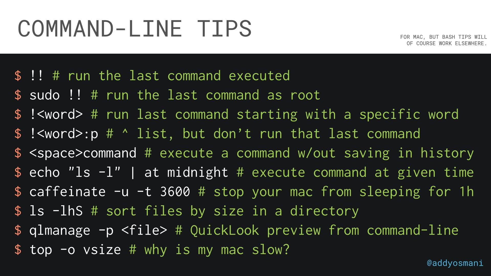 Command-line pro-tips: http://t.co/PI2g5oTtpf
