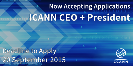 Now accepting applications for #ICANNceo and President. Apply today #ICANN:  http://t.co/Ojt6PXx6i7 http://t.co/KWxyK5EgGF