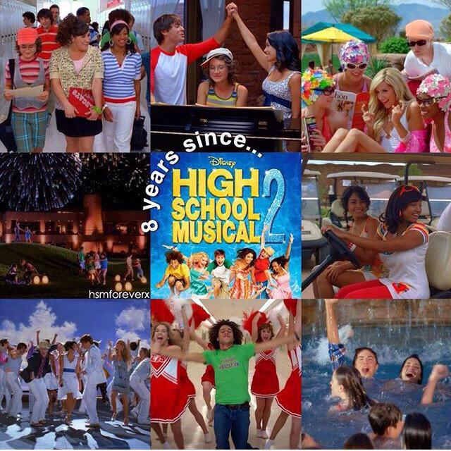 I can't believe that 8 years ago today High School Musical 2 Premiered! Wow does time fly! #HSM2 #wildcat ❤️