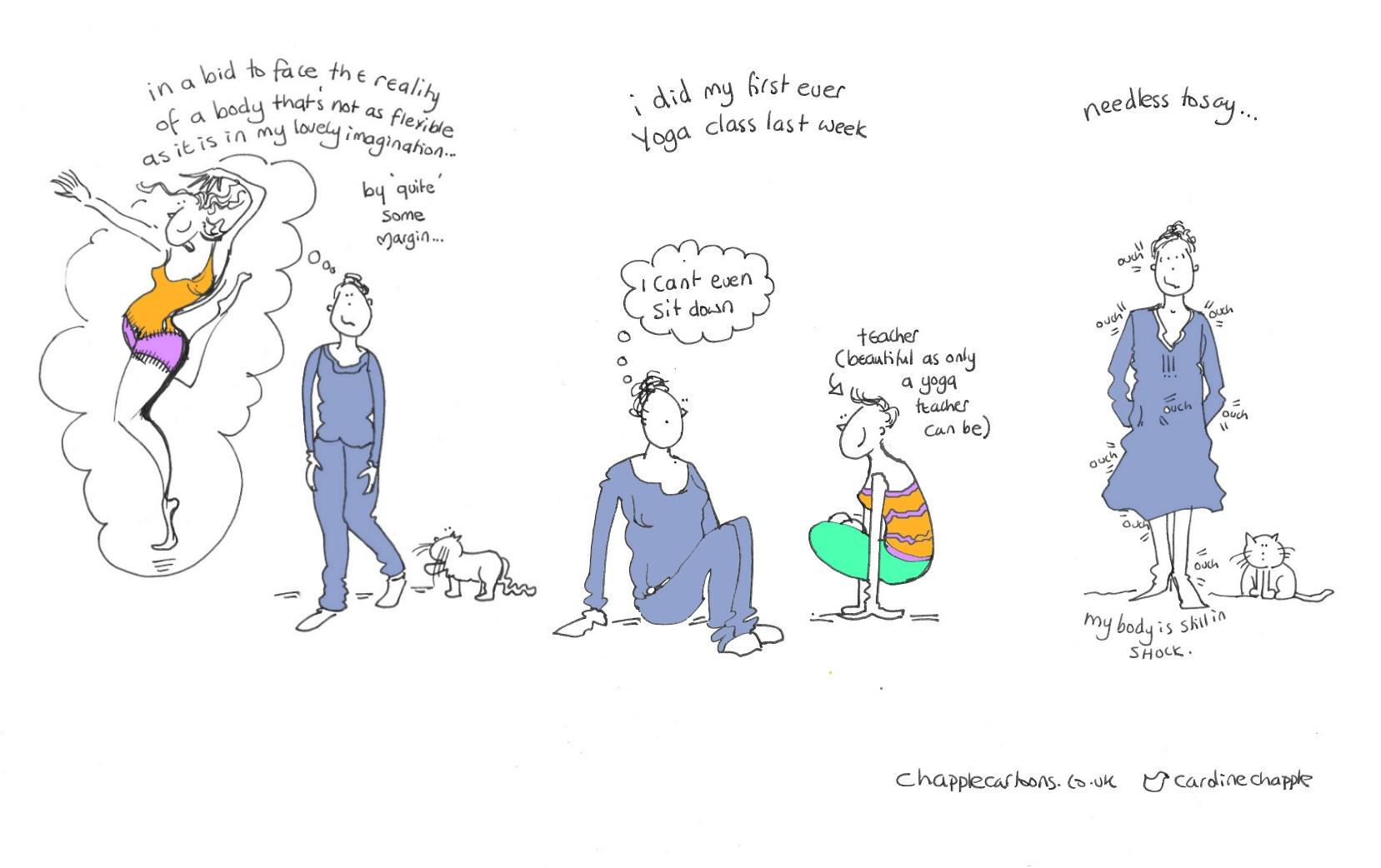 yoga. people who do #yoga look really great. Well. Most people. #todaysdoodle http://t.co/AXOgilfJ6k