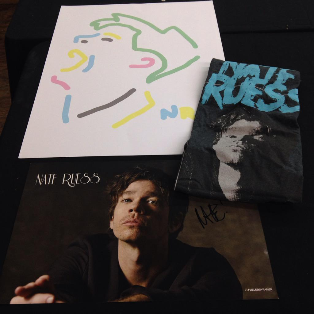 Contest - RT for chance to win a @nateruessmusic t-shirt, art print & signed poster courtesy of @vintagevinylSTL http://t.co/zWq3HAwCYA