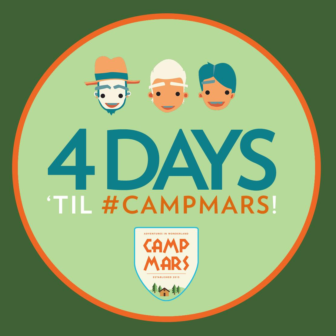 Not your average camp.  #CampMars #4DAYS!! http://t.co/uhdPT2dSE0 http://t.co/YW2bxCmE3w
