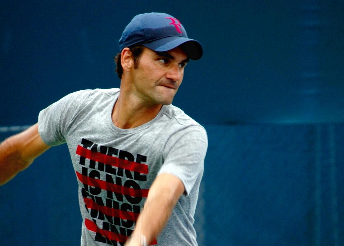 There is no finish line for @rogerfederer #CincyTennis http://t.co/9VeWZqfZwv