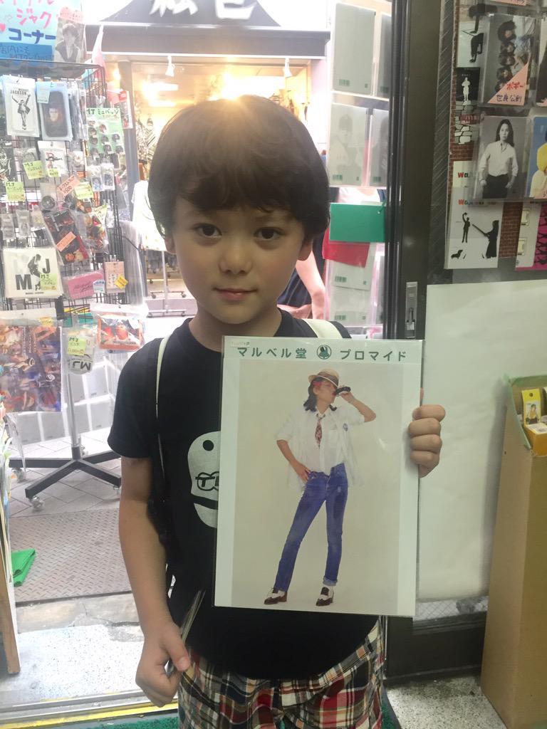 ロンドンからお越しのジュリーファンのお客様!  なんと6歳です!  昨日ジュリーのLIVEに行ってきたみたいですよ! http://t.co/aIXrMYurJ4