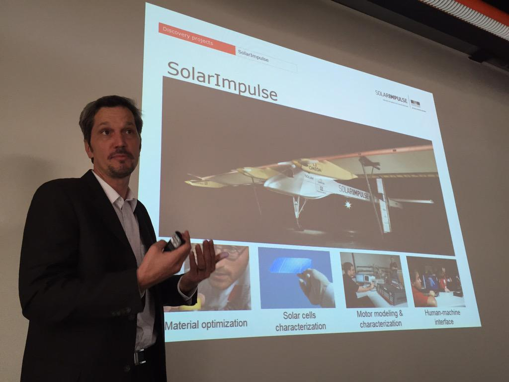Pascal Vuillionmenet @EPFL_en gave tech insight @solarimpulse to US #CHenergy innovation delegation.  @swissnexBoston http://t.co/5OX25Yun3l