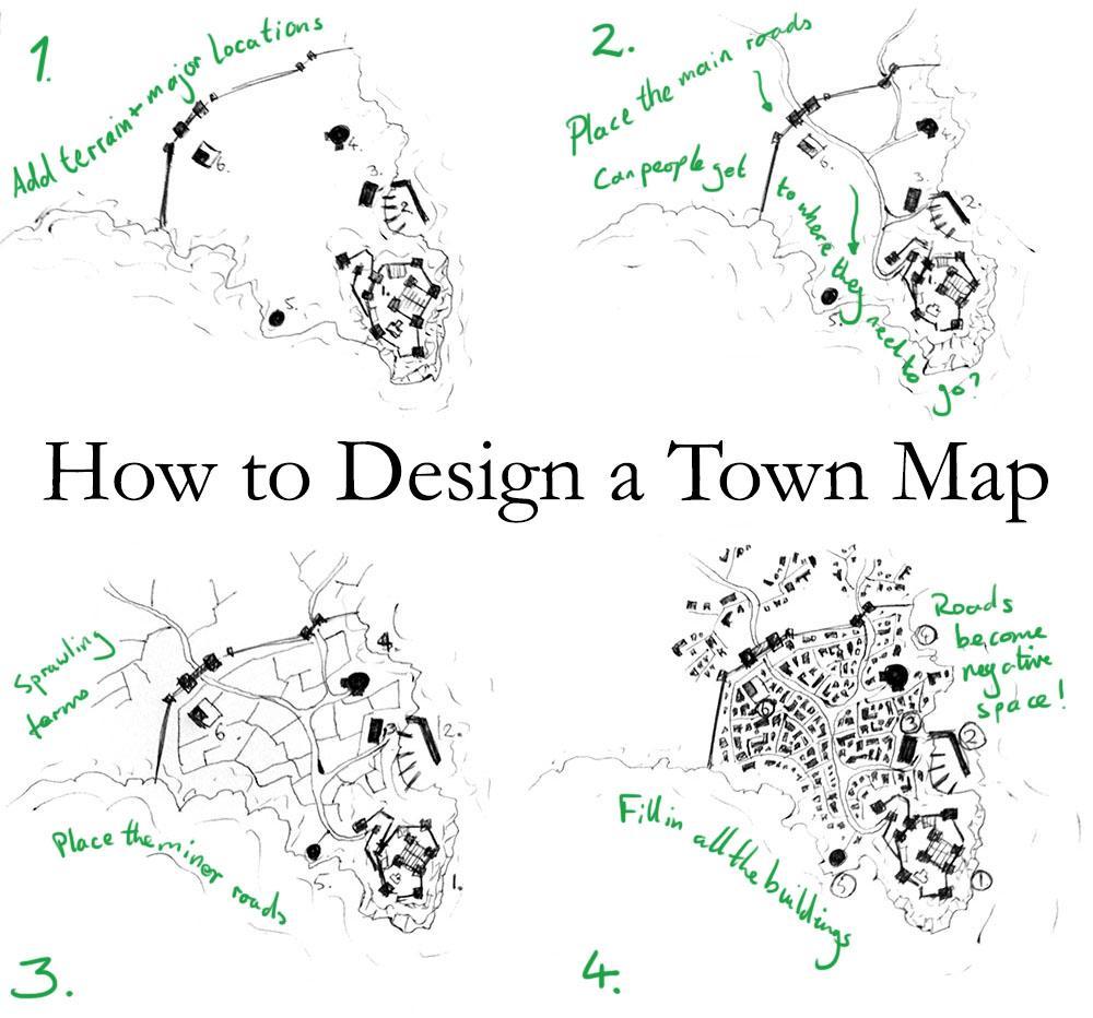 Towns aren't hard to map. This is an un-pretty tutorial on my town map design process http://t.co/D5IxzcrDhX http://t.co/DIkKgfszrB