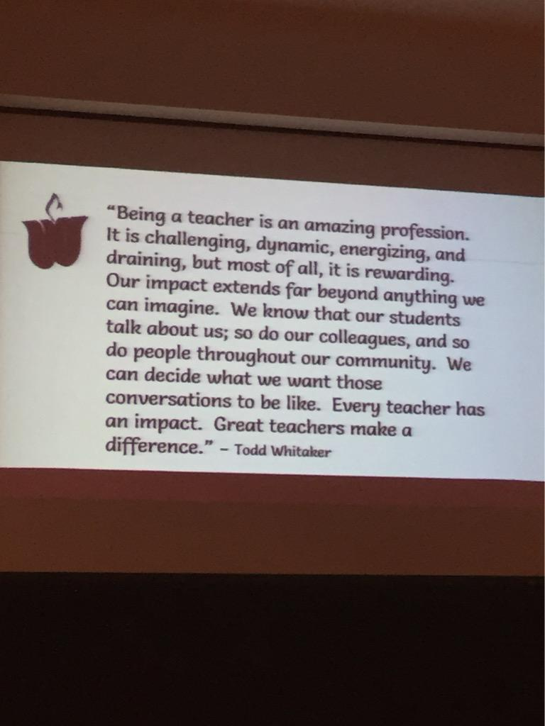 Look at our new asst supt quoting some @ToddWhitaker! #WISD1516 Woohoo, @kimspi! http://t.co/NBOaKLuyoh