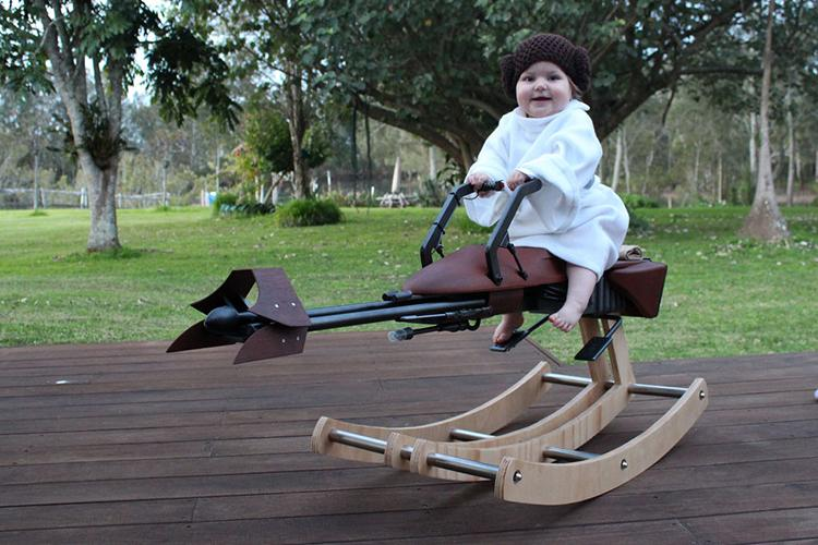Father Builds a Custom Rocking Horse Based on a #StarWars Speeder Bike via Laughing Squid  http://t.co/7Y5lvU4kNv http://t.co/cqaARyprdQ