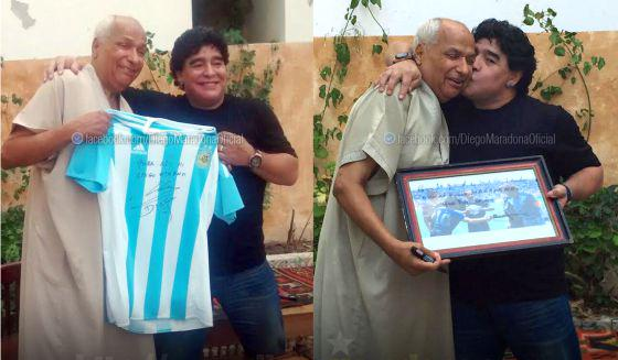 """Diego Maradona visits Tunisian referee who awarded him 1986 """"Hand of God"""" goal against England http://t.co/5GpT4WIEol http://t.co/GT6pARobQ3"""