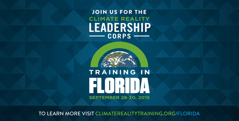 The time to act is now. Join me next month at #CRinFlorida to become a @ClimateReality Leader: http://t.co/m6VmstQMdz http://t.co/RLo7WaaijR