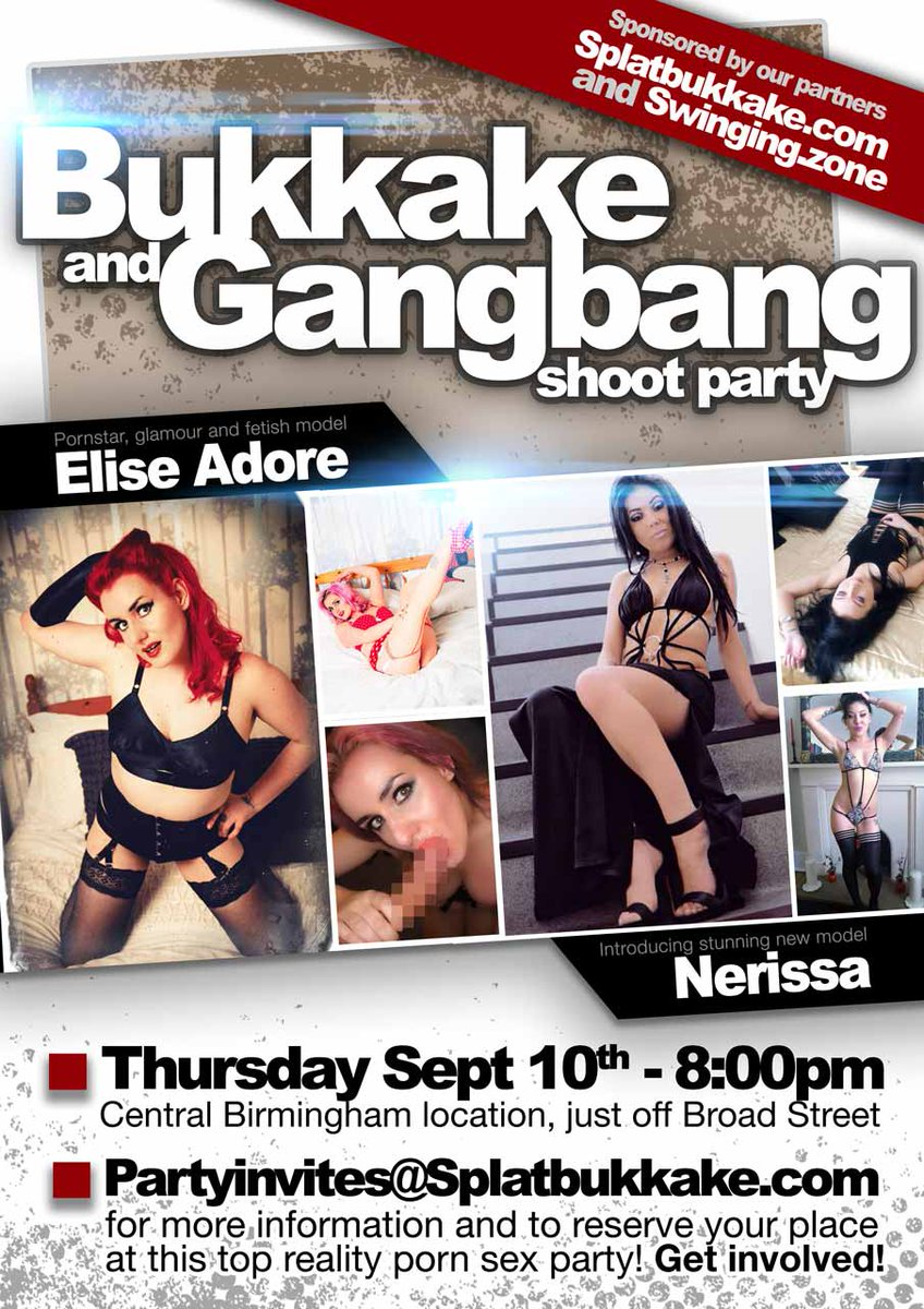 Next Bukkake & Gangbang party. 10th September, 8:00pm, Birmingham. Email for details and to reserve your