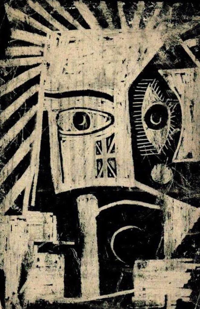 "André Breton. African Mask. 1948. http://t.co/ct1wuPPnHl ""@ipnotic via @ibrahimezz2014"