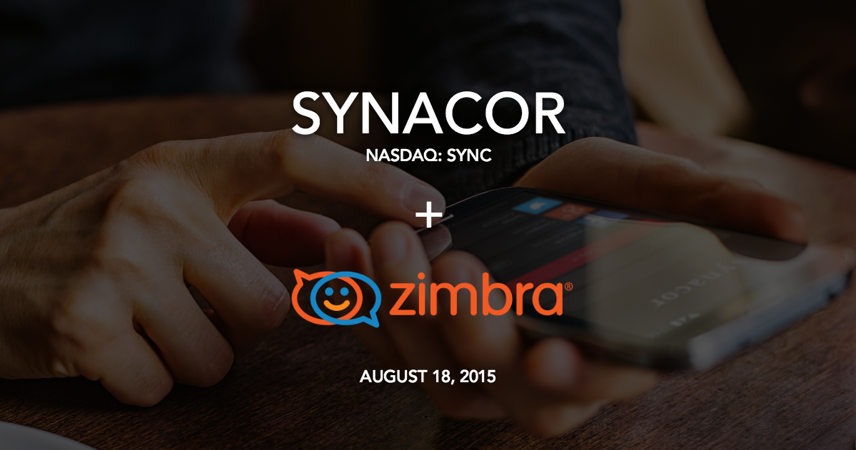 Exciting News! Synacor Agrees to Acquire Zimbra, read the Press Release about it -  http://t.co/5dIBfRUUOa http://t.co/3qHIrdx8FX