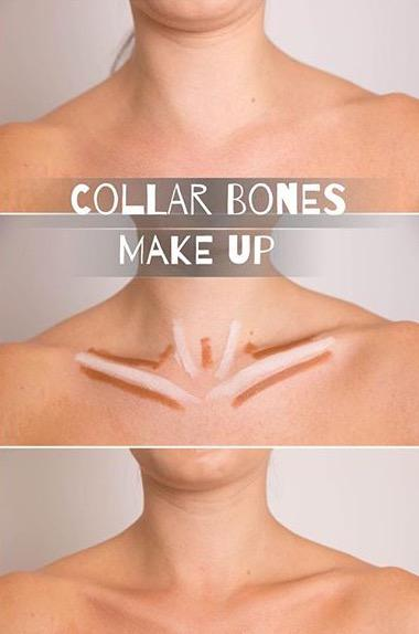 "I mean to each their own but... A little too much. ""Hold on babe let me just finish up my collar bones"""