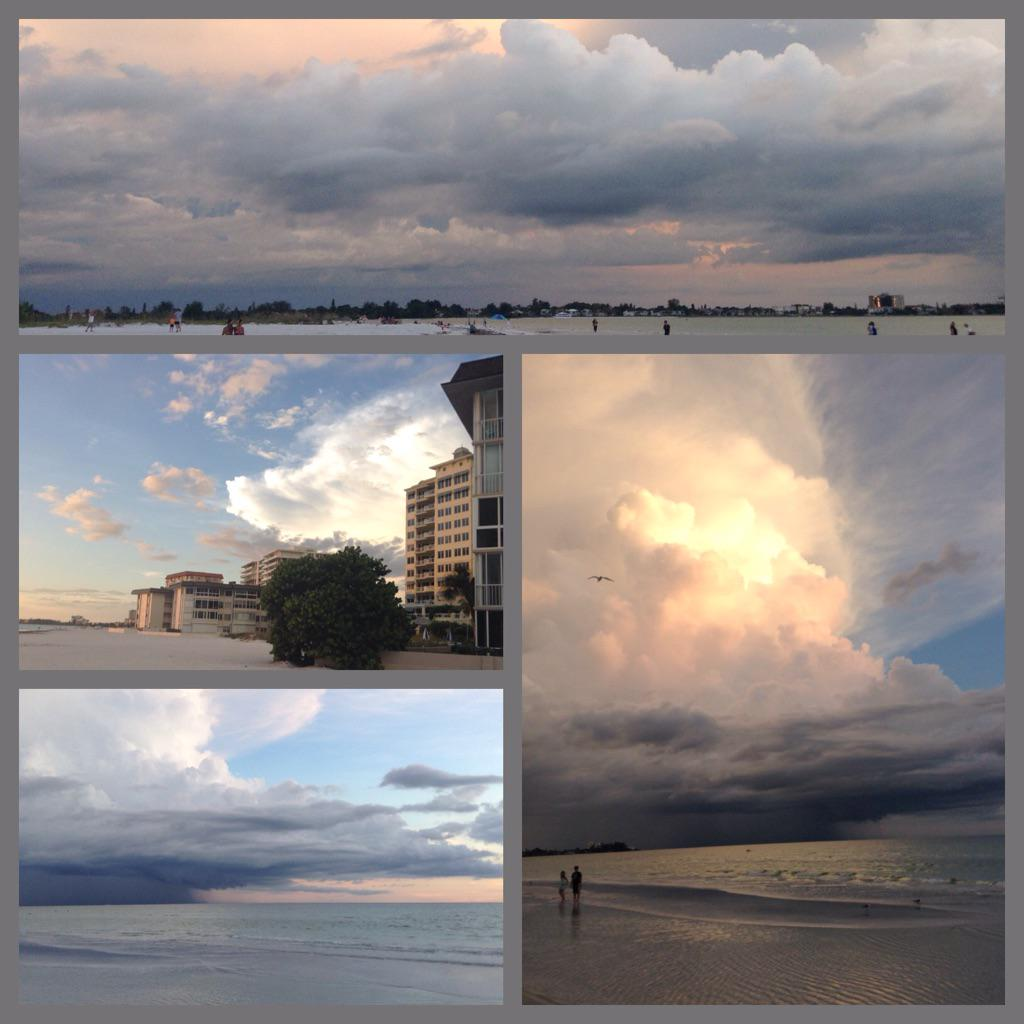 Some of these clouds from a @VisitSarasota sunset on Lido Key don't look real, but I swear they are untouched! http://t.co/osl6SwqOeY