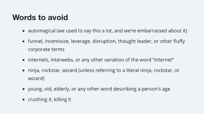 Style guide for life in general from @mailchimp http://t.co/duXf7f5iGF http://t.co/ai3BxagGC7