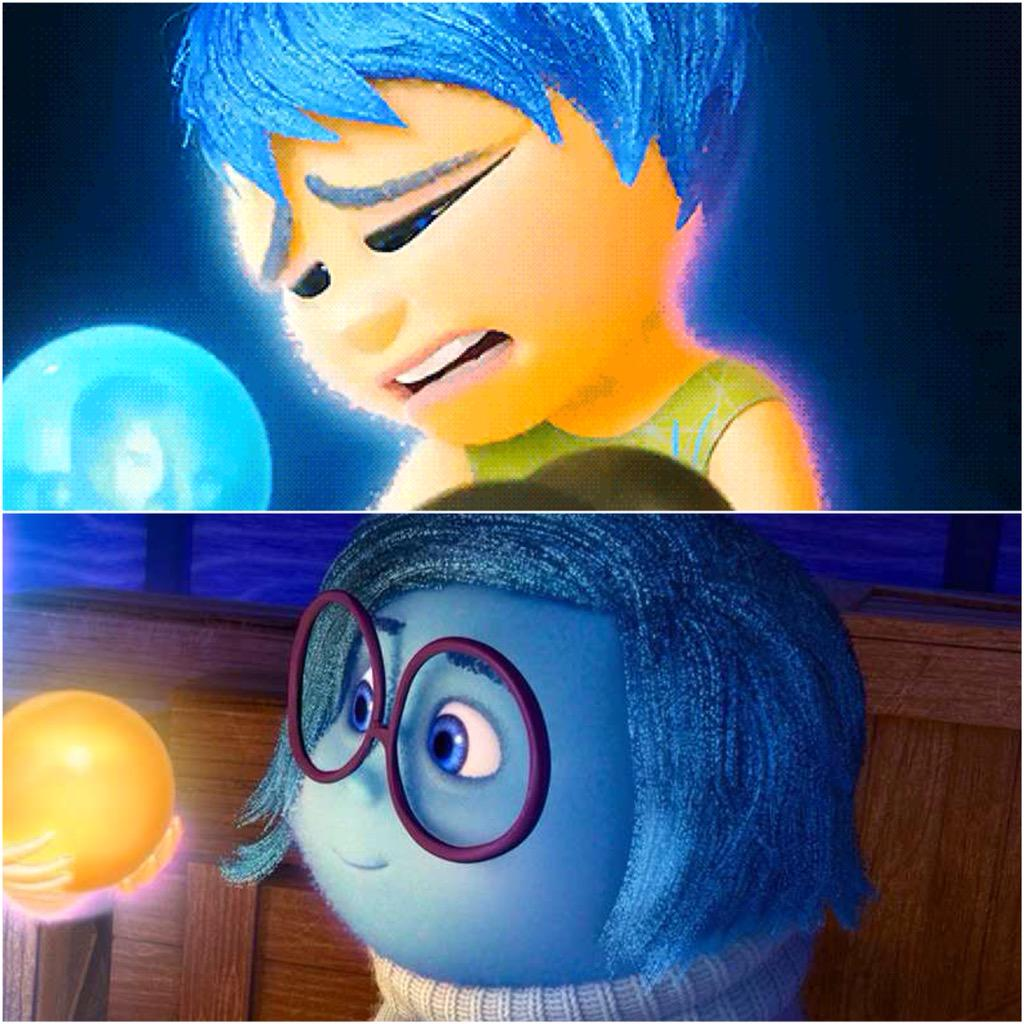Something I learn from Inside Out: there are tears in joy, and there are smiles in sadness :)) http://t.co/Hqc4Hl68zr