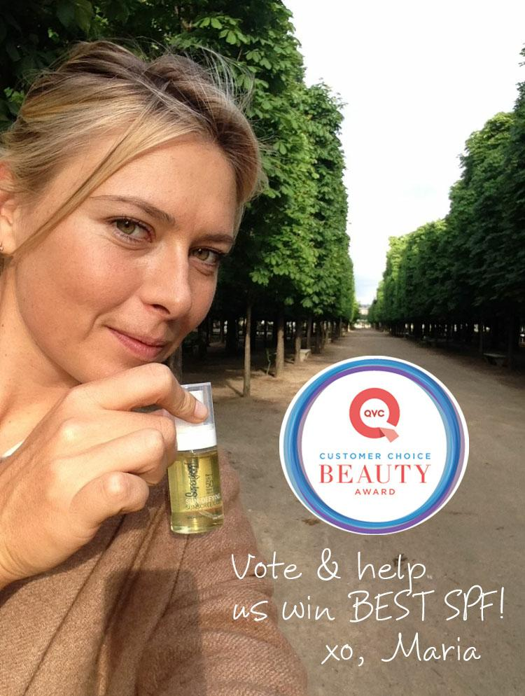 My fave @Supergoop Sun-Defying Oil is up for @QVC award! Your vote will help us win http://t.co/DGpEB2BvrY http://t.co/T13tcH0gcr