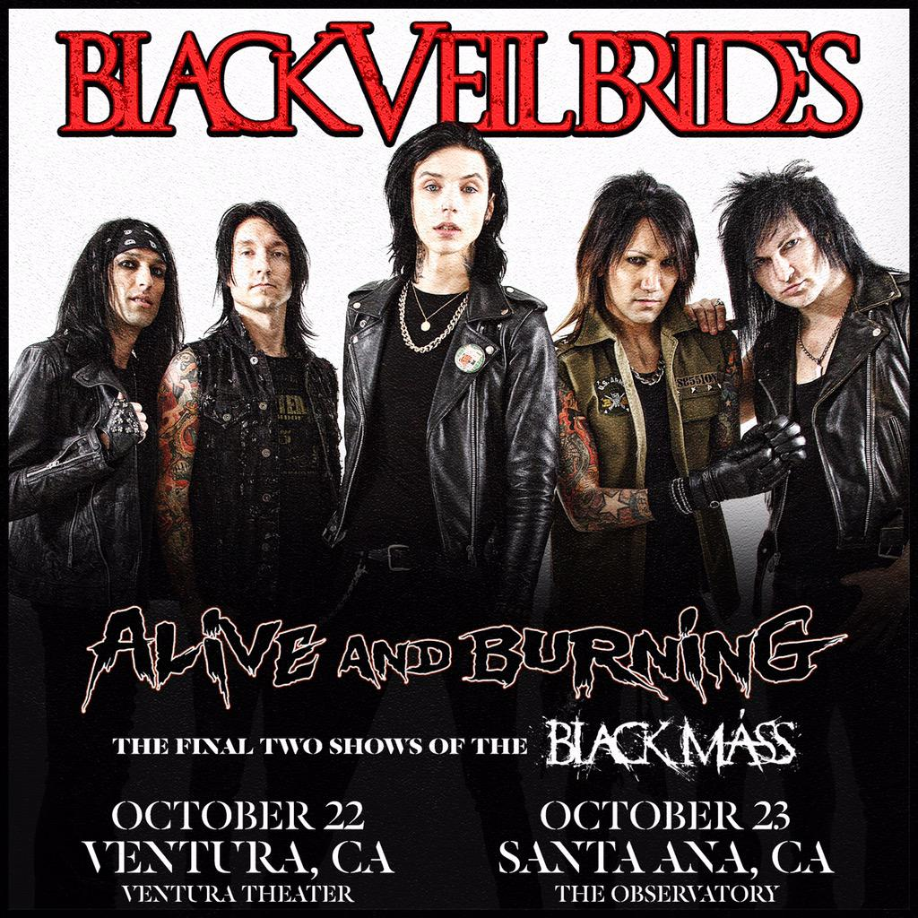 The last 2 shows of the Black Mass Tour! Tix on sale this Friday!  #TheBlackMassTour #BVBArmy http://t.co/LvdEC5P6wM