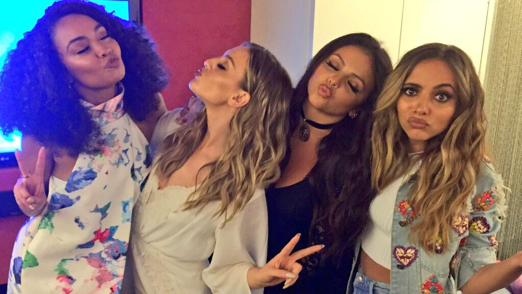 We just got kissy faces from @LittleMix!