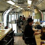 Whats it like to work in a converted Tube train office? http://t.co/fzJZPc0zpm #london http://t.co/CRUGcznyaH