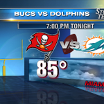 Heading to Miami for #Bucs preseason game? Only a 30% rain chance. Watch it on @WFLA. Pre-game starts at 6:30pm. http://t.co/pFP2tH32Sx