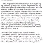 An Open letter from SOMEONE to Mr. Sucaldito in behalf of AlDubNation. May God Bless you. #ALDUB7thWEEKSARY http://t.co/9jvvV111Bu