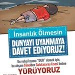 İnsanlık Ölmesin!  Dünyayı uyanmaya davet ediyoruz.. Bu akşam saat 19.00da Tünelden Galatasaray Lisesine yürüyoruz http://t.co/8O5xz4lmnz
