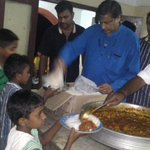 Serving dinner to the kids of Sri Chitra Home, which i have sponsored at Onam every year since my return to India. http://t.co/n1FwfTbkBB