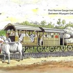 Sketch of first narrow gauge train in Asia (between Miyagam-Dabhoi near Vadodara) 1862 https://t.co/Bs4Sp2T02q http://t.co/pImoCSrjGH