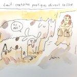 La crise du lait vue par @joannsfar qui illustre tout le journal @lesoir de ce vendredi. #Milk #agriculteurs http://t.co/4nYvJR1n2s