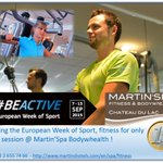 #BeActive #fitness for only €1 @Martin_Spa @chateau_lac #genval during European Week of Sport @EU_Commission http://t.co/3bH383ksSJ