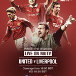 Join #MUTV from 18:00 BST for the legends clash between #mufc & Liverpool in Sweden (UK/IRE): http://t.co/GICR3o6yQQ http://t.co/SDJRZ8pod6