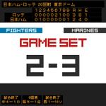 試合終了 日2-3ロ #chibalotte http://t.co/v719hCeNCC