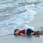 His name was#AylanKurdi. He was 3 years old. He loved to play soccer. His only crime? Being born in Syria in 2012. http://t.co/MqZTkaZkdi