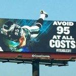 Eagles put up an awesome Mychal Kendricks billboard on I-95 (via @danblah25) http://t.co/DkfB9brKBE http://t.co/Eh2vZfSiDL